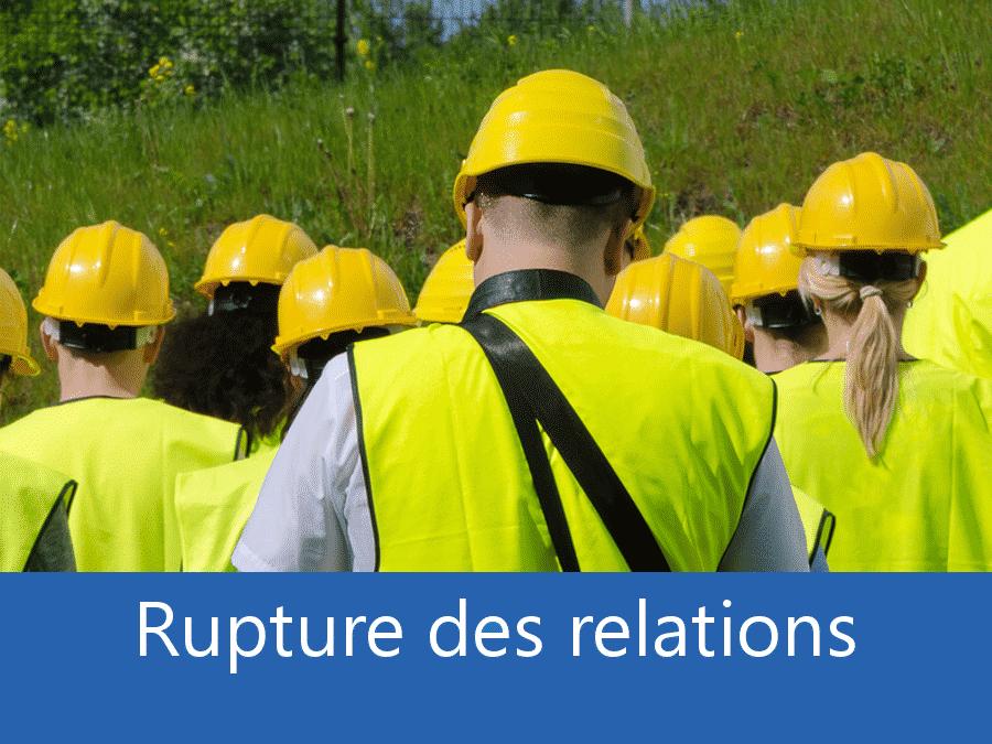 rupture des relation chantier 91, problème durant le chantier Evry, stress chantier Massy, problème durant le chantier Essonne,